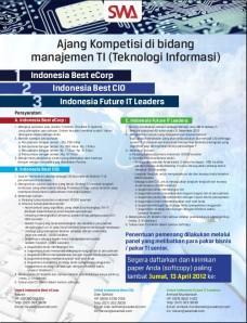 Ajang Kompetisi di bidang manajemen TI (Teknologi Informasi), Best eCorp, Best CIO, Future IT Leaders